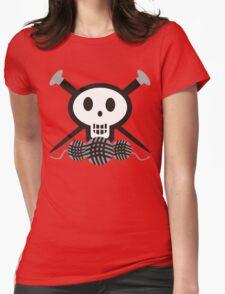 Knitting needles skull and yarn t-shirt T-Shirt
