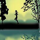 Jogging At Sun Rise by aldona