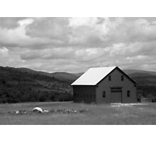 Old Maine Barn in Black and White Photographic Print