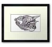 Steampunk Airship - The Black Pearl Framed Print