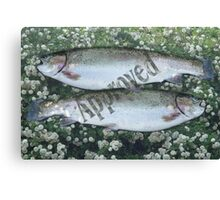 Pisces Approved Canvas Print