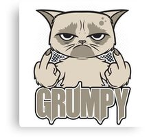 Grumpy Face Canvas Print