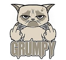 Grumpy Face Photographic Print