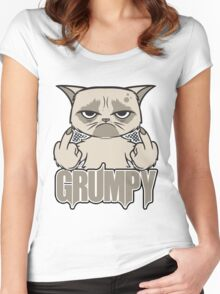 Grumpy Face Women's Fitted Scoop T-Shirt