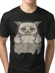 Grumpy Face Tri-blend T-Shirt