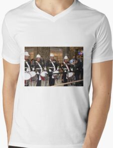 Military Band at the London Poppy day tug of war at Canary Wharf Docklands  Mens V-Neck T-Shirt