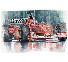 Ferrari Marlboro F 2002 Ferrari 051 Rubens Borrichello Poster