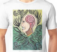 Icon 3: Totem head surrounded by ferns Unisex T-Shirt