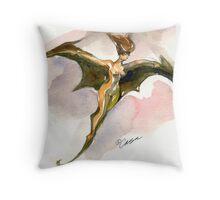 Bat Hair Day Throw Pillow