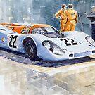 Porsche 917K Gulf 1970 Le Mans Test Weighing  by Yuriy Shevchuk
