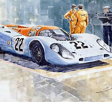 Porsche 917K Gulf 1970 Le Mans Test Weighing  by Yuriy Shevchuk