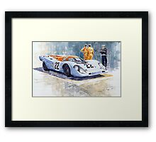 Porsche 917K Gulf 1970 Le Mans Test Weighing  Framed Print