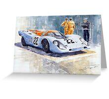 Porsche 917K Gulf 1970 Le Mans Test Weighing  Greeting Card