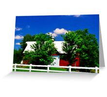 Another Red Barn Greeting Card