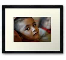Boy in RO chapel Framed Print