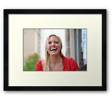 Holly Laughs RO Framed Print
