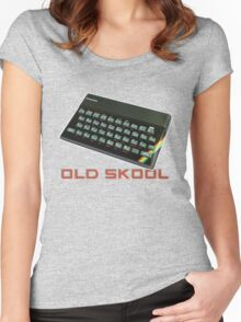 Spectrum Old Skool Women's Fitted Scoop T-Shirt