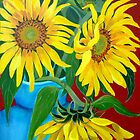 Sunflowers by marlene veronique holdsworth