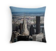 Chrysler Building - New York In Miniature Throw Pillow