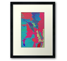 You Are Here Magenta Framed Print