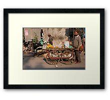 Fruit Cart Framed Print
