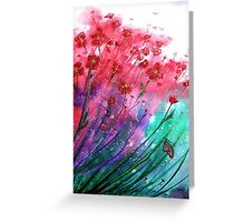 Dancing Poppies - Flowers  Greeting Card