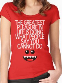 THE GREATEST PLEASURE Women's Fitted Scoop T-Shirt