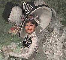 Ascot Hat. Audrey Hepburn by Ian A. Hawkins