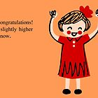 Congratulations Card--Cute Girl by diabolickalFUN