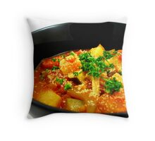 Minestrone Soup Throw Pillow