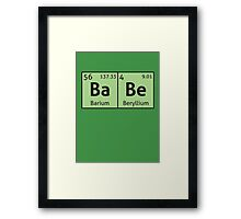 Periodic Table - Babe Framed Print
