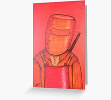 """""""Troubled Ned""""  EJCairns  For Sale Greeting Card"""