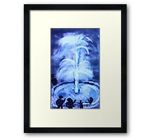 The Fountain, watercolor Framed Print