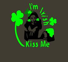 Kiss Me I'm Irsih girl Womens Fitted T-Shirt