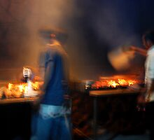 fish grill boys north bali by Michael Brewer