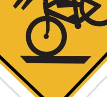 Helmets Recommended (II), Traffic Warning Sign, USA Sticker