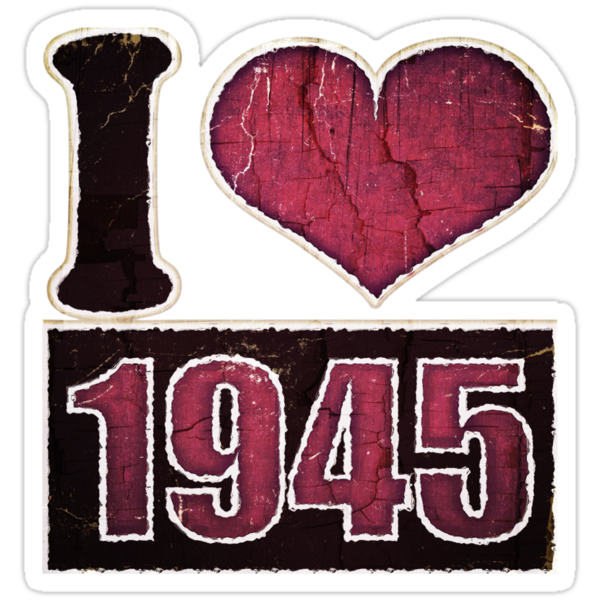 I heart 1945 Vintage T-Shirt by Nhan Ngo