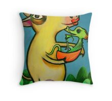 The Ox and The Dragon Throw Pillow