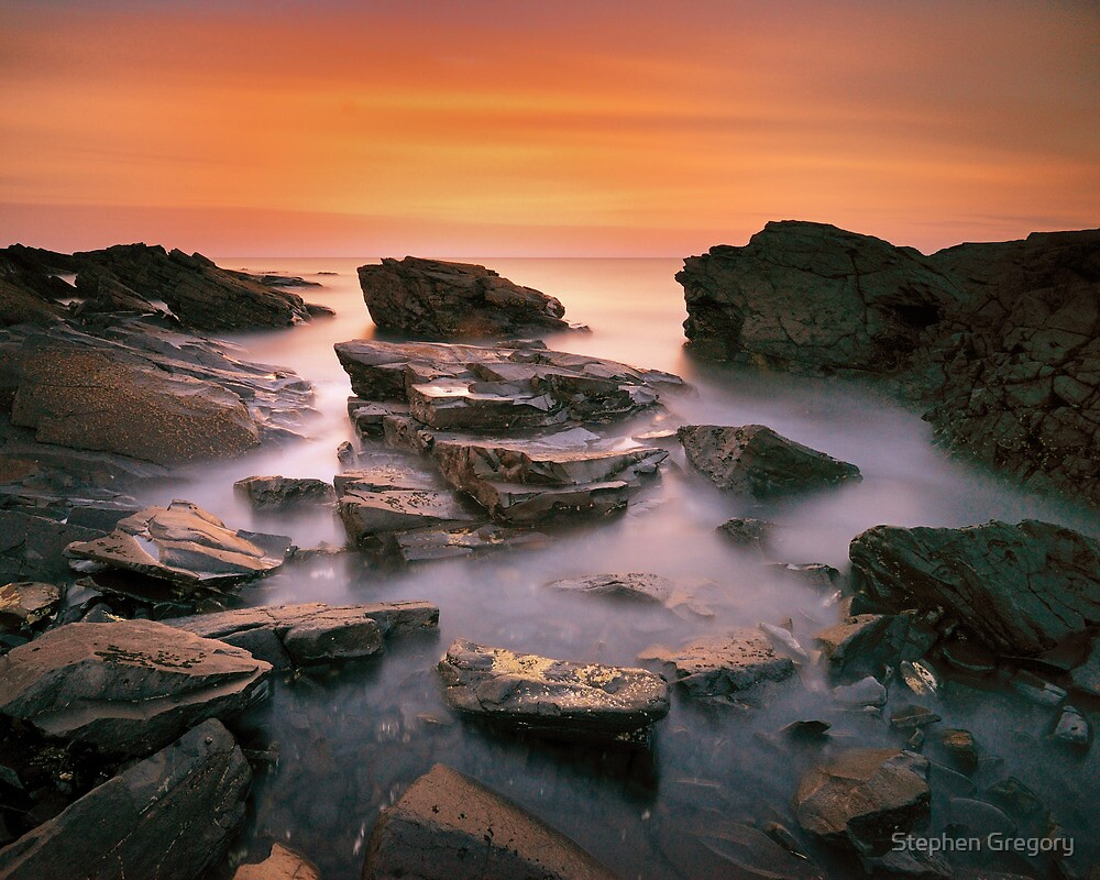 Kings Rocks Sunset by Stephen Gregory
