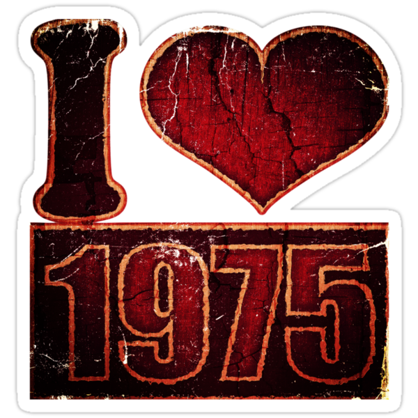 I love 1975 Vintage T-Shirt by Nhan Ngo
