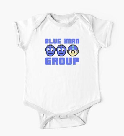 Blue Mega-Man Group One Piece - Short Sleeve