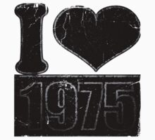 I heart 1975 Vintage T-Shirt Baby Tee