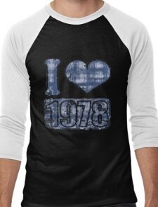 I heart 1978 Vintage Men's Baseball ¾ T-Shirt