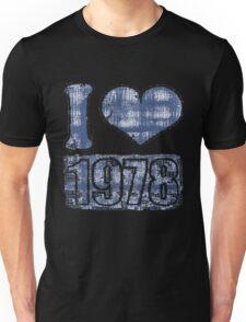 I heart 1978 Vintage Unisex T-Shirt