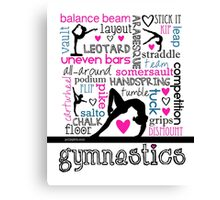 Gymnastics Tri-Color Typography Canvas Print