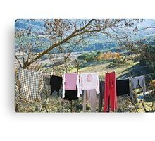 Drying on countryside - Toscana - Italy Canvas Print