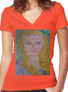 Leah Women's Fitted V-Neck T-Shirt