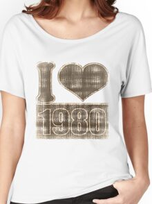 I love 1980 Vintage T-Shirt Women's Relaxed Fit T-Shirt