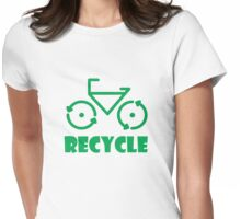 Recycle Bicycle Womens Fitted T-Shirt