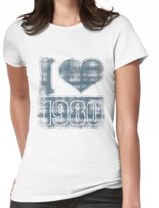 I heart 1980 Vintage T-Shirt Womens Fitted T-Shirt